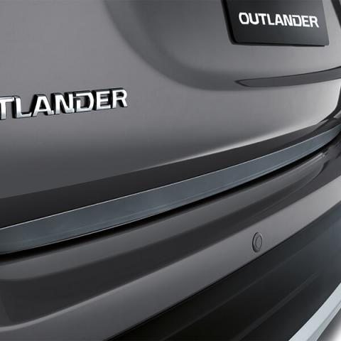 Outlander Chrome effect tailgate protector