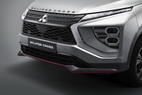 The front bumper of a Mitsubishi Eclipse Cross