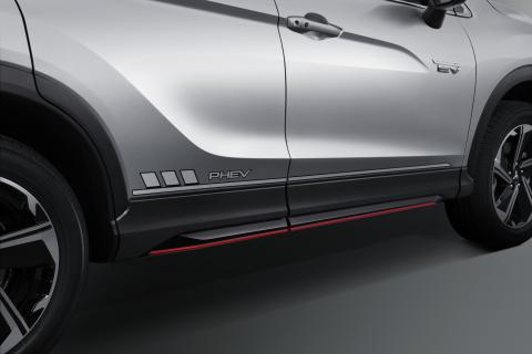 Side decal on the body of a Mitsubishi Eclipse Cross PHEV