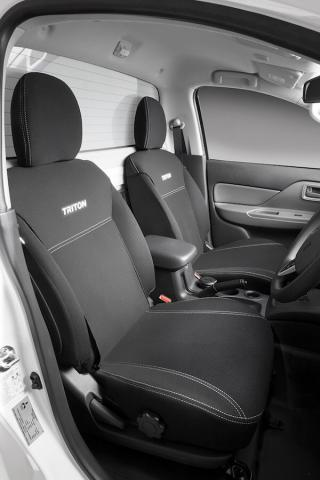 The neoprene seat covers available for some of the Triton models
