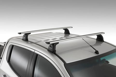 A close up of the Triton Roof Rack System