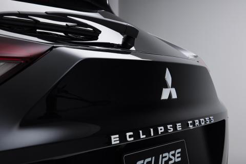 Black Eclipse Cross rear with an Eclipse Cross badge
