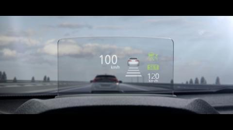 Head Up Display in an Eclipse Cross VRX